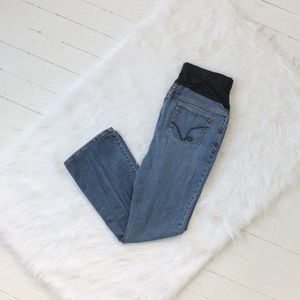 Liz Lange Maternity Blue Flare Jeans Size 8